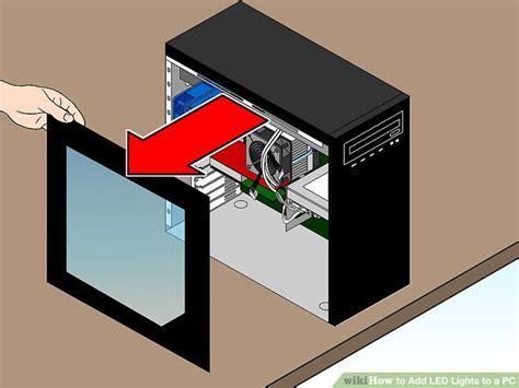 How To Attach Led Lights How To Add Led Lights To A Pc 6 Steps With Pictures