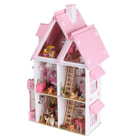 unique doll houses diy kit dollhouse toy miniature scale model puzzle wooden doll house unique big size