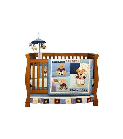 line crib bedding kidsline play 6 crib bedding set