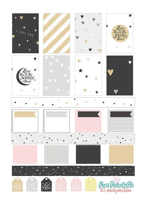 printable planner free pinterest free printable planner stickers love you to the moon
