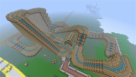 theme park names minecraft huge wooden rollarcoaster the legacy 1rst in my theme
