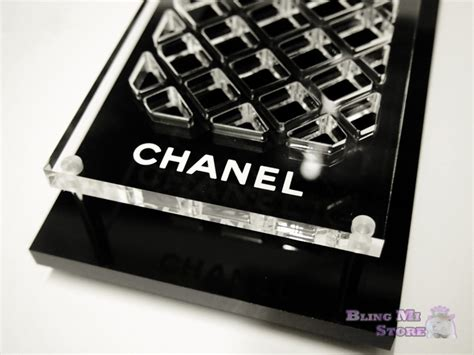 vip home decor chanel vip classic gift item black clear brush makeup cosmetics holder tray home decor