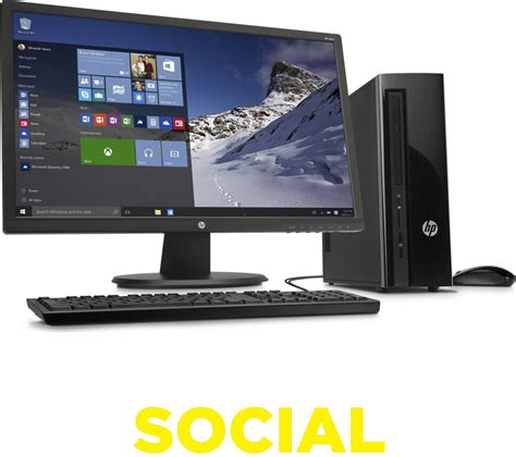 Desk Top Computer Deals Hp Slimline 411 A005na Desktop Pc 24 Quot Monitor Bundle Deals Pc World