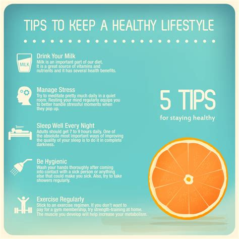 7 Tips On Living A Healthy Lifestyle by Importance Of A Healthy Lifestyle Visual Ly