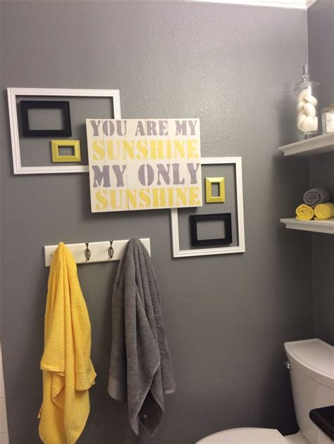 17 best ideas about grey yellow bathrooms on pinterest decorative towels yellow towels and