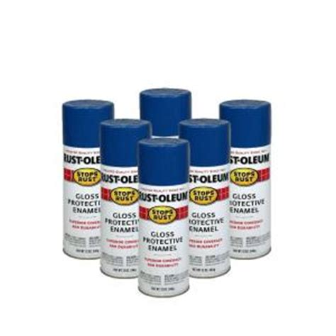 rust oleum stops rust 12 oz gloss royal blue spray paint 6 pack discontinued 182753 the