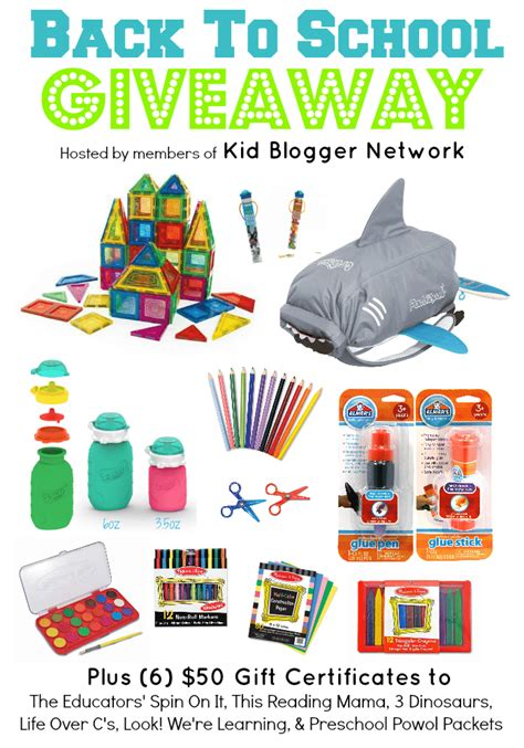 School Giveaway - fun ideas for learning after school with kids the educators spin on it