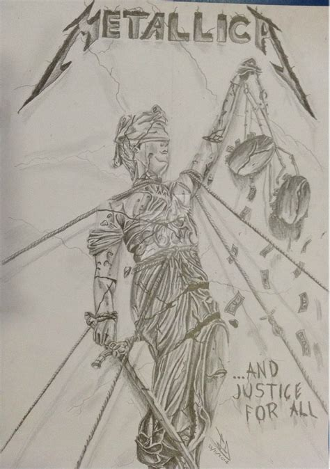Sketches From A S Album by And Justice For All Metallica Album Drawing By