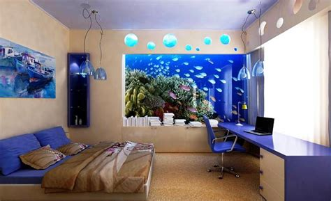 aquarium bedrooms the home aquarium for a unique interior feature