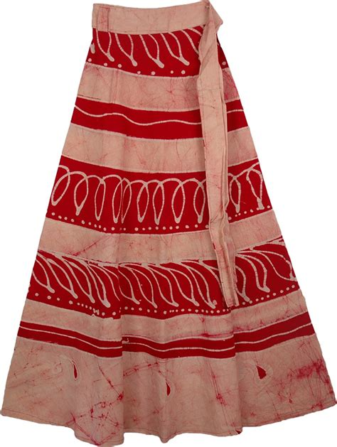 batik skirt pattern red white batik wrap long skirt clothing sale on bags