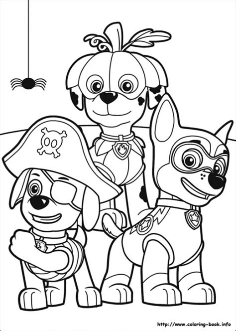 puppy patrol coloring page paw patrol puppies in halloween costume coloring page