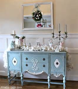 Painted Buffet Hutch Christmas House Tour 2012 Vintage And Pastel Foyer And