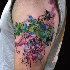 watercolor tattoos heilbronn grape tattoos tatting and food tattoos