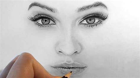 Drawing Realistic Faces by Drawing Realistic Faces Grils Sketch Realistic Draw