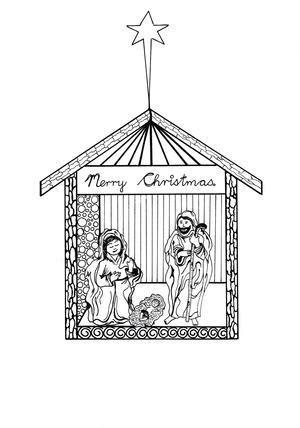 free printable nativity scene christmas cards free printable christmas cards to color