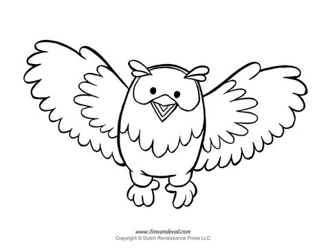 Printable Owl Template Owl Coloring Pages And Owl Clipart Coloring Page Template