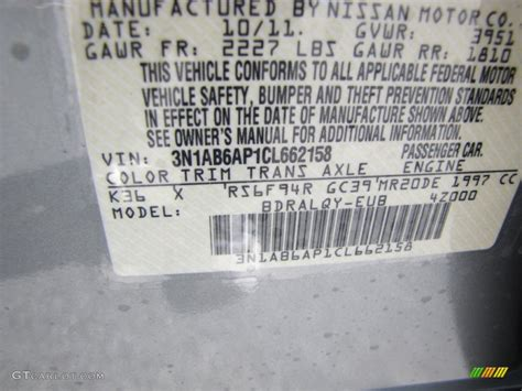 2012 sentra color code k36 for magnetic gray metallic photo 56423233 gtcarlot