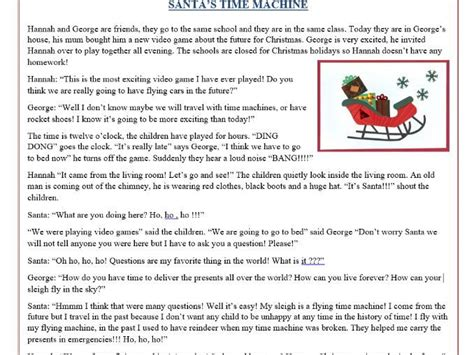 printable christmas reading worksheets christmas reading comprehension text story quot santa s
