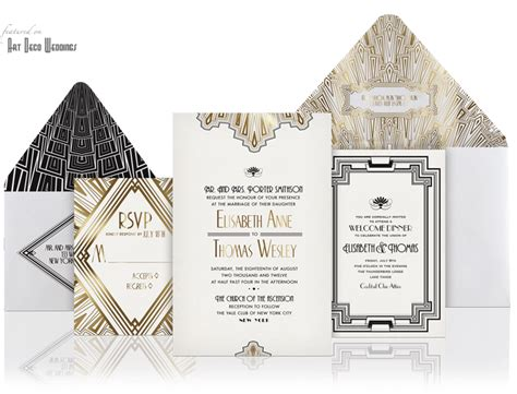 wedding invitations deco deco wedding invitation ellington by atelier isabey