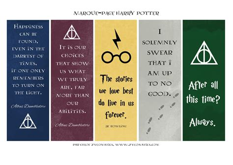 printable bookmarks harry potter des marque pages harry potter 224 t 233 l 233 charger gratuitement