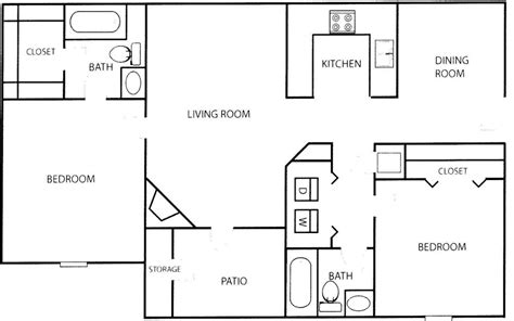two floor plans unique floor plans for two bedroom homes home plans