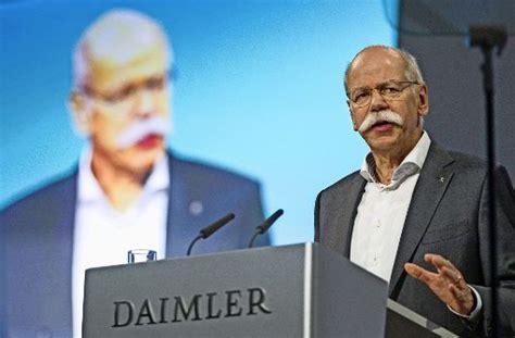Daimler Meine Bewerbung Login Daimler Aufsichtsratschef Manfred Bischoff Kann Sich Zetsche Als Nachfolger Vorstellen