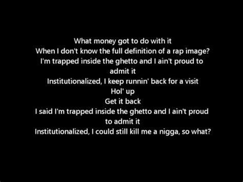 kendrick lamar institutionalized institutionalized kendrick lamar lyrics youtube
