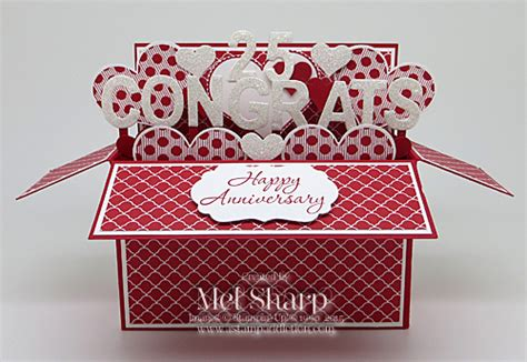 25th Wedding Anniversary Card Box by Wedding Anniversary Card In A Box