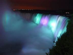 niagara falls night lighting canada nature wallpaper