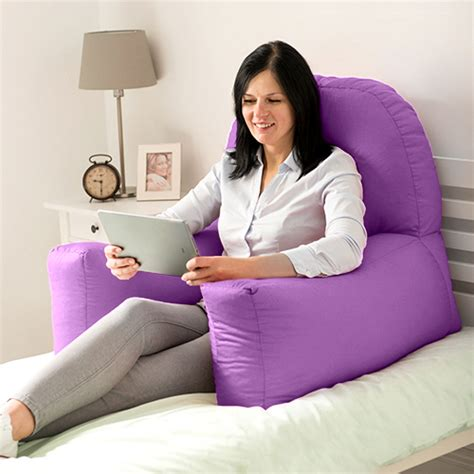 pillows for sitting up in bed chloe bed reading bean bag cushion arm rest back support
