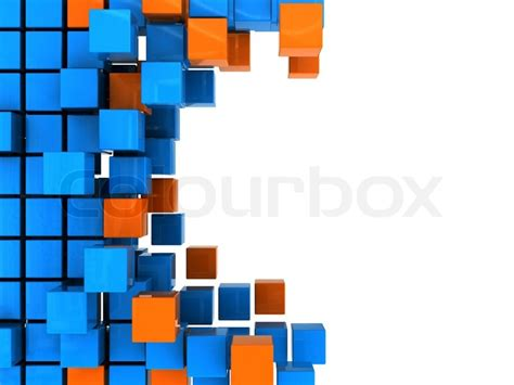 abstract 3d illustration of background with blue and