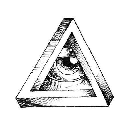 impossible triangle eye tattoo design best tattoo designs