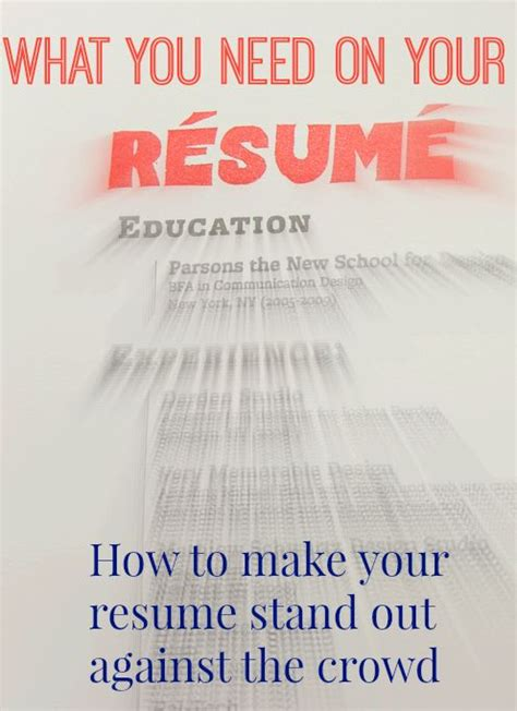 how to write a resume that stands out how to make your resume stand out from the crowd