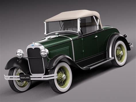 Clasic 05 D Green 10 5 3d model classic antique roadster 1929