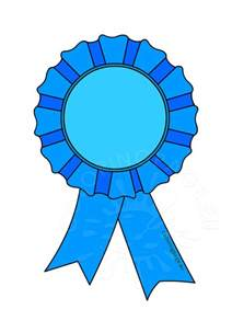 award rosette clip art coloring page