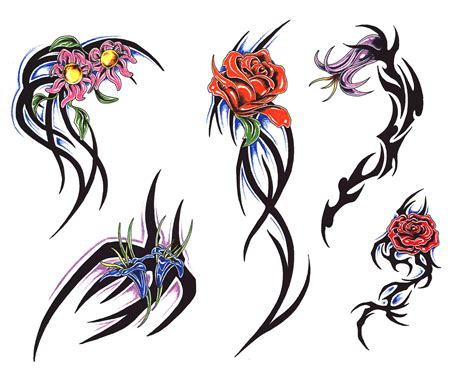 tribal flower tattoo pictures flowers pictures tattoos tattoos