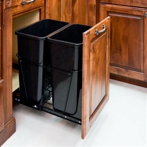 cabinet trash can kit outstanding kitchen cabinet trash can kit trash bin