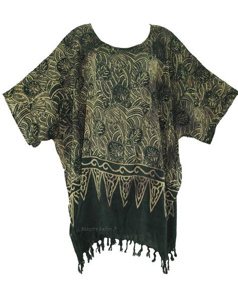 Tunik Blouse Batik Rahayu black batik blouse tunic kaftan caftan top plus size 1x 2x 3x 4x 22 24 ebay