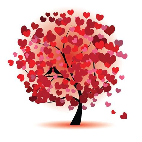 images of love tree graafix combination of heart and tree graphics