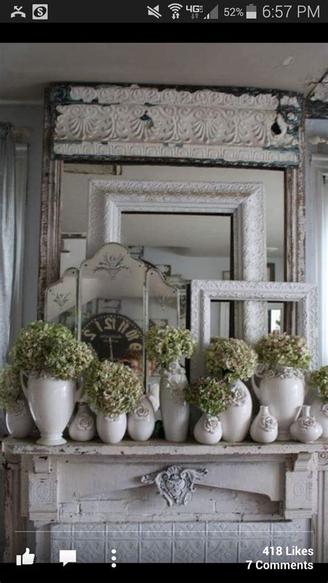 mantel decor new home pinterest mantels decor mantels and shabby