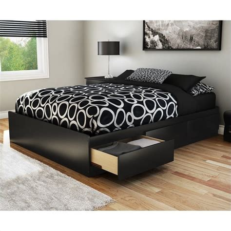 black storage bed south shore full storage bed in pure black 3107211