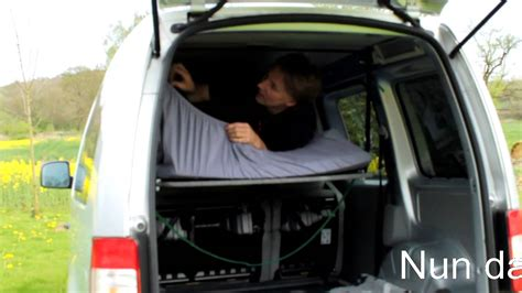 vw bett vw caddy bett im hochdachkombi mit ein paar handgriffen