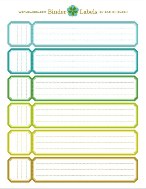 ring binder label template spines binder spines template
