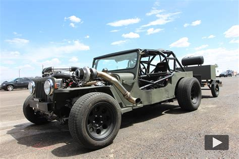 Jeep Rat Rods Turbo Jeep Rat Rod Deathtrap At Drag Weekend West