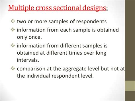 Cross Sectional by Cross Sectional Design