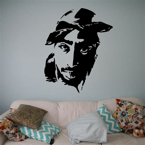 hip hop bedroom furniture popular tupac wall decal buy cheap tupac wall decal lots
