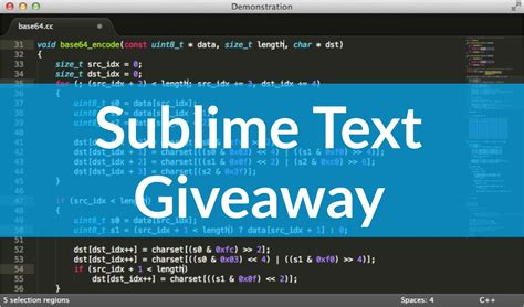 Giveaway Text - sublime text giveaway