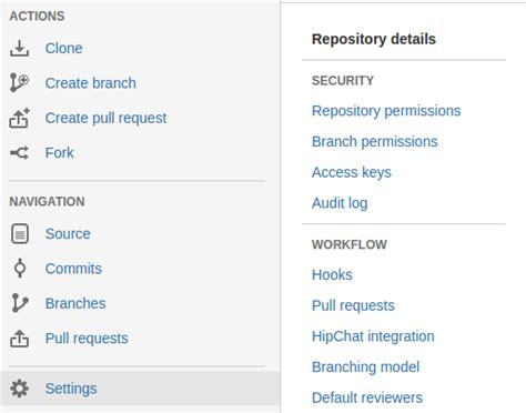 website section names atlassian bitbucket server addon web item section name
