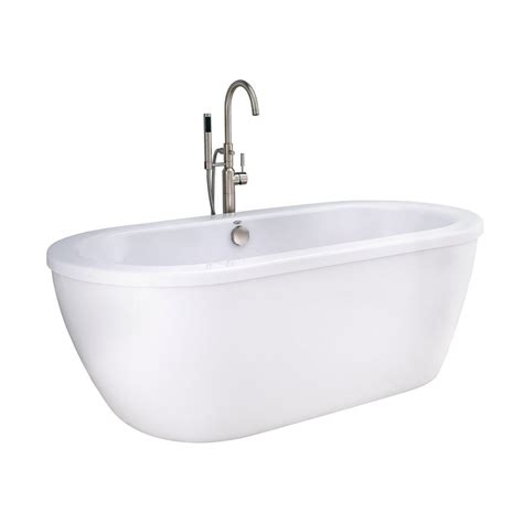 bathtub american standard american standard cadet 66 in acrylic flatbottom bathtub in artic white 2764014m203