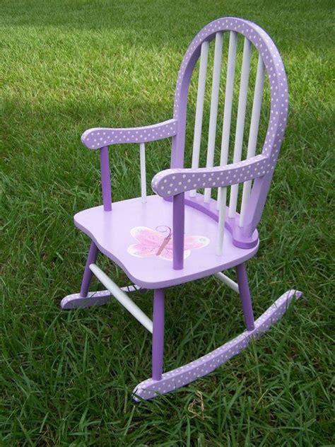 Purple Rocking Chair by Painted Purple Polka Dot Rocking Chair Chair Rocking Chairs Chairs And